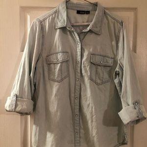 A.n.a light denim shirt